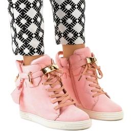 Roze wedge sneakers KLS-103-10