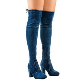 Klassieke spijkerlaarzen HX15135-3B blauw