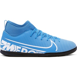 Nike Mercurial Superfly 7 Club Ic Jr AT8153 414 voetbalschoenen blauw wit, blauw