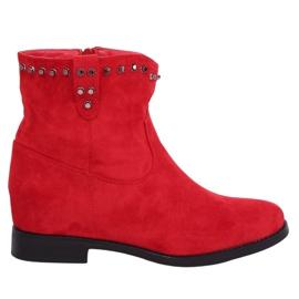 Rode laarzen op een verborgen wig rood G-7606 Rood
