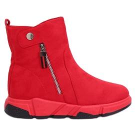 Rode laarzen in een sportieve stijl SJ1938 Rood