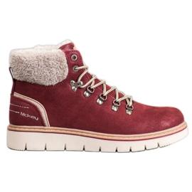 McKey Suède laarzen rood