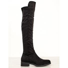 Seastar Zwarte knie hoge laarzen