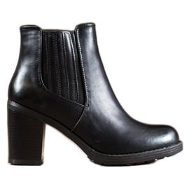 Comer Lederen laarzen zwart