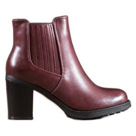 Comer Lederen laarzen rood