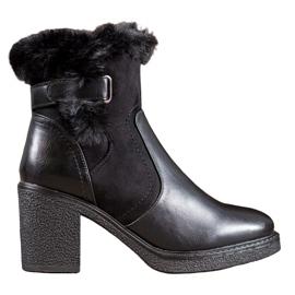 SHELOVET Laarzen met bont zwart