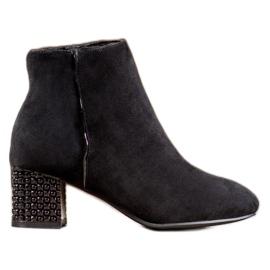 SHELOVET Laarzen Met Een Decoratieve Hiel zwart