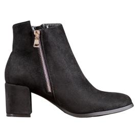 SHELOVET Klassieke suède laarzen zwart