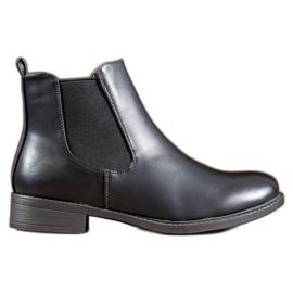 SHELOVET Klassieke laarzen met rits zwart