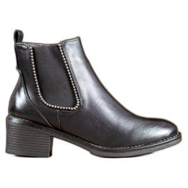 Small Swan Zwarte laarzen