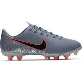 Nike Mercurial Vapor 12 Academy Mg Jr AH7347 408 voetbalschoenen oranje, grijs / zilver grijs