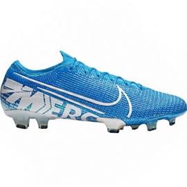 Nike Mercurial Vapor 13 Elite Fg M AQ4176 414 voetbalschoenen wit, blauw blauw
