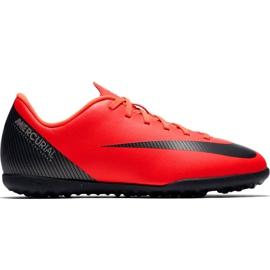 Nike Mercurial Vapor X 12 Club Gs CR7 Tf Jr AJ3106 600 voetbalschoenen rood