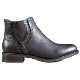 Small Swan Zwarte laarzen met ecoleer