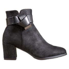 SHELOVET Elegante laarzen met een strik zwart