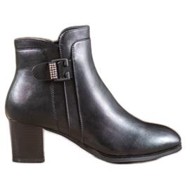 SHELOVET Elegante laarzen met een decoratieve gesp zwart