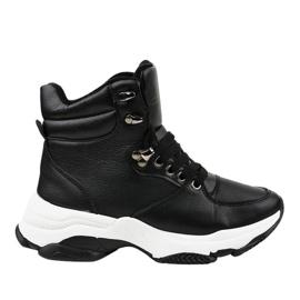 Zwarte geïsoleerde sneakers voor dames C-3132