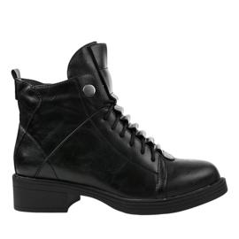 Zwarte geïsoleerde platte laarzen CR-3366
