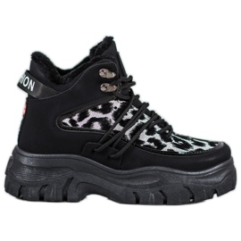 SHELOVET Sneakers met luipaardprint zwart