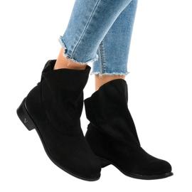 Zwarte geïsoleerde platte laarzen 6672-6