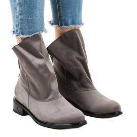 Grijze platte geïsoleerde laarzen 6672-7 grijs