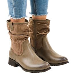 Bruine geïsoleerde platte laarzen 3431