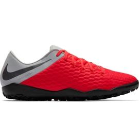 Nike Hypervenom Phantom X 3 Academy Tf M AJ3815 600 voetbalschoenen zwart, rood, grijs / zilver rood