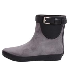 Grijze regenlaarzen voor dames grijze laarzen K1890101 Gris grijs