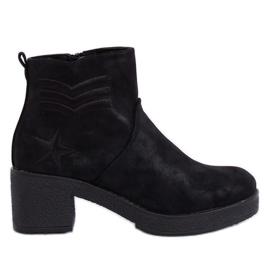 Zwarte laarzen met hoge hakken zwart K1822701 zwart