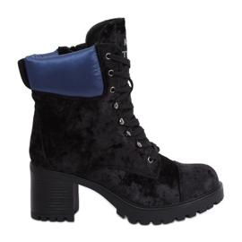 Zwarte velours laarzen K1835203 Negro