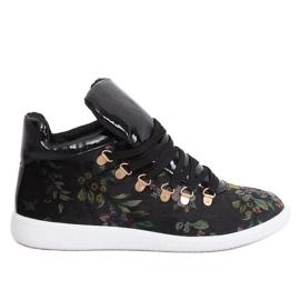 Fluwelen sneakers K1834206 Flores zwart