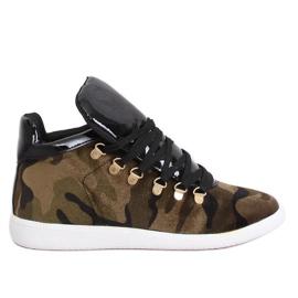 Fluwelen sneakers K1834206 Camuflaje groen