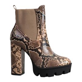 Seastar Hoge laarzen slangenprint bruin