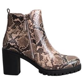 Seastar Laarzen op het Snake Print-platform bruin