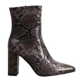 Seastar Snake Print laarzen bruin