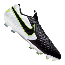 Nike Legend 8 Elite Fg M AT5293-007 voetbalschoenen wit, zwart zwart