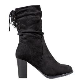 J. Star Hoge zwarte laarzen