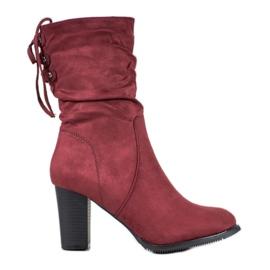 J. Star Hoge Bourgondische laarzen rood
