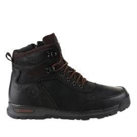 Zwart geïsoleerde heren wandelschoenen M70-2A