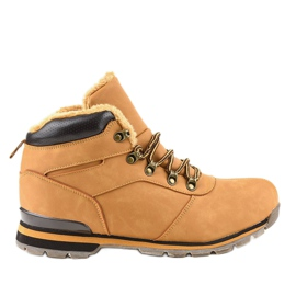 Bruine geïsoleerde wandelschoenen voor heren 9185-3