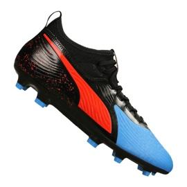 Puma One 19.3 Syn Fg / Ag M 105487-01 voetbalschoenen zwart, rood, blauw zwart