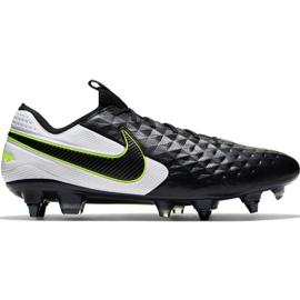 Nike Tiempo Legend 8 Elite Sg Pro Ac M AT5900 007 voetbalschoenen zwart wit, zwart, groen