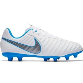 Nike Tiempo Legend 7 Club Fg Jr AH7255 107 voetbalschoenen wit wit, blauw