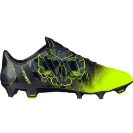 Puma evoPOWER 1.3 Graphic Fg M 103769 01 voetbalschoenen zwart, groen veelkleurig