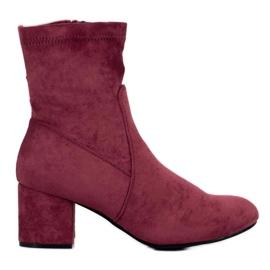 J. Star Klassieke Bourgondische laarzen rood