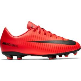 Nike Mercurial Victory Vi Fg Jr 831945 616 schoenen rood