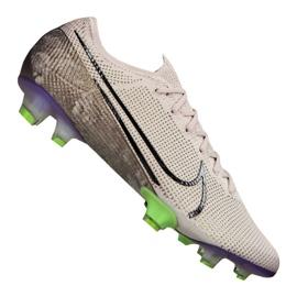 Nike Vapor 13 Elite Fg M AQ4176-005 voetbalschoenen wit, grijs / zilver grijs