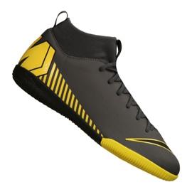 Nike Mercurial SuperflyX 6 Academy Gs Ic Jr AH7343-070 indoorschoenen zwart, geel grijs