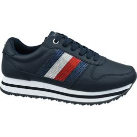 Tommy Hilfiger Tommy Retro kristallen sneaker W FW0FW04683 Cki marine