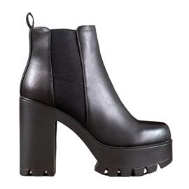 Seastar Modieuze laarzen op het platform zwart